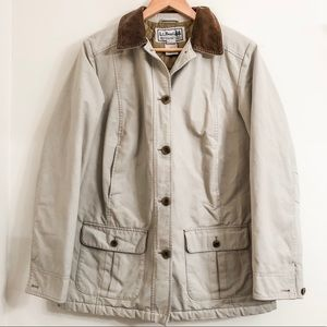 L.L. Bean Barn Coat Quilted Lining Size Small
